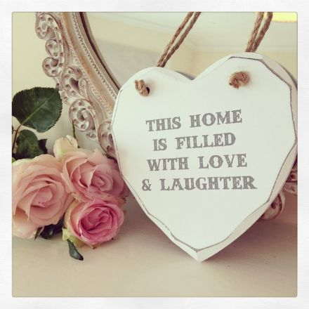 50% Off This Home Is Filled With Love Hanging Wooden Heart